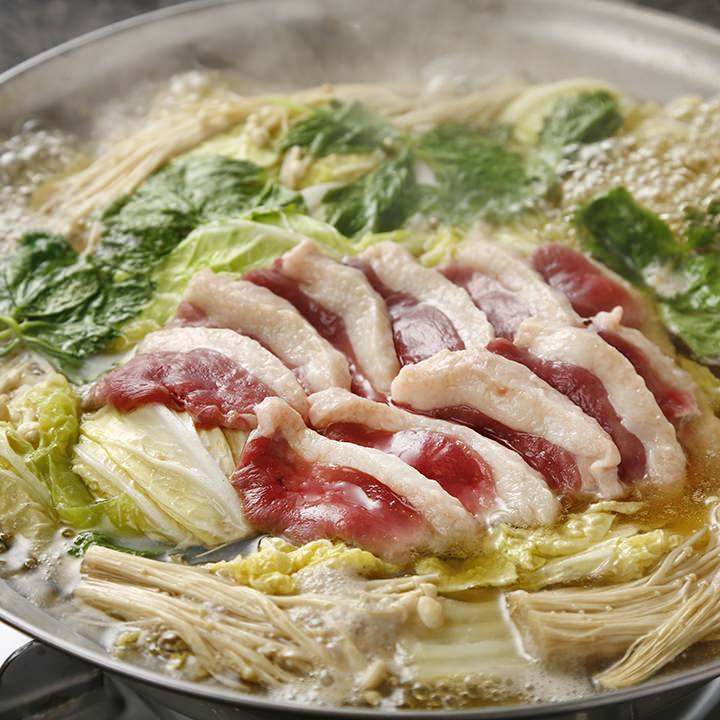 【150分飲み放題付】お料理9品 串天ぷらとお酒を堪能!鴨鍋コース
