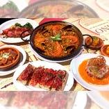 ◆忘新年会スタンダードコース(2名様~)旬の食材を贅沢に使用したパエリャなど、冬の味覚を楽しめる