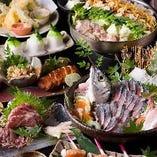 【宴会コース】 飲み放題付でお得!季節を味わえる料理をご提供