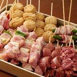 【播州百日地鶏串・野菜串】 自慢の串は1本1本丁寧に。