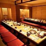 最大70名様まで収容宴会席は法事・慶事などのご利用も可。