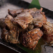 総州古白鶏のレアレア炙り