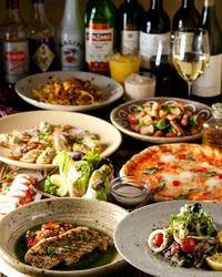 前菜からパスタ、ピザまで充実の内容です。