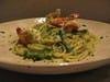 海老といんげんのバジルクリームスパゲッティ