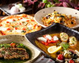 《オードブルからピザ、パスタまで料理9品のコース》