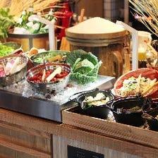 【土日祝ランチビュッフェ】出来立てPIZZA・PASTA、サラダ、デザート、ドリンクバーなど食べ放題税込1580円