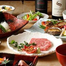 贅沢食材のオンパレード!コース料理