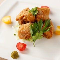 菜彩鶏の二味唐揚げ