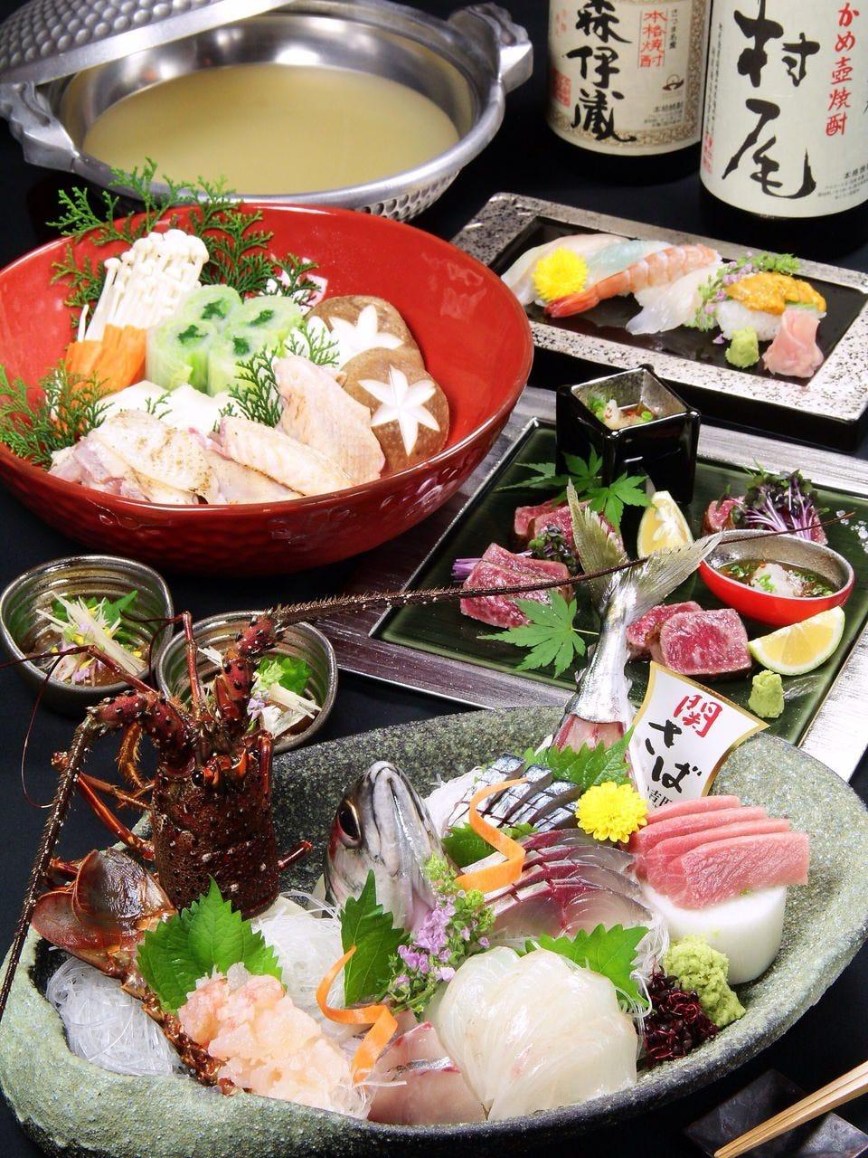 豊後大分日本各地の豪華食材贅沢料理