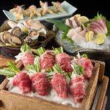 【毎日入荷】旬の味覚、贅法沢食材、ブランド牛を拘りの調理で。