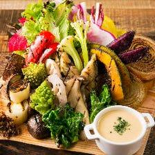 提携農家の新鮮野菜を使用!