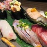 【NEW】本日のお造り6点盛りの握り鮨