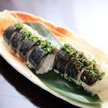 炙り〆鯖の棒鮨
