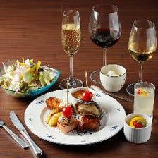 ジューシーなローストビーフやカラフル料理が盛り沢山!豪華『3,500円コース』友人とのお食事や記念日に♪