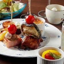旨味たっぷり白身魚のムニエルや彩り料理が全11品!『3,000円コース』パーティーやデートにおすすめ♪