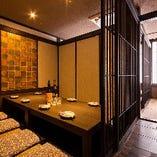 風情ある和の大小個室が多数ございます。