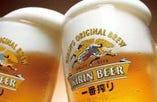 その2.当店の、飲放題の生ビールは発泡酒では無く、『KIRIN一番搾り生』 です!