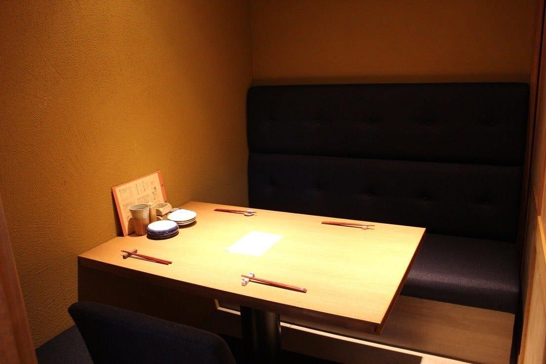 テーブル席・完全個室(壁・扉あり)・4名様