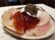 ハマグリの青柚子風味、コンソメとキャビアと