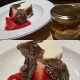 トリュフとイチゴマスカルポーネのムース、白トリュフの蜂蜜