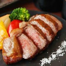 黒毛和牛A5ランクのステーキ