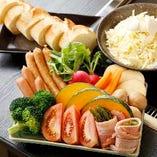 ボリューム満点!旬食材を楽しむ鉄板チーズフォンデュ【栃木県】