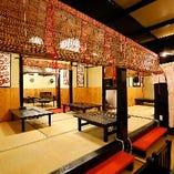 各種ご宴会に最適!昭和レトロな雰囲気満載のゆったり小上がり座敷席