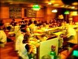 テーブル席では大宴会、カウンター席席では、小宴会?!