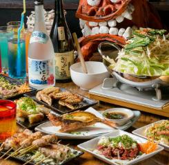 """""""島の恵み""""たっぷりの「琉球沖縄料理コース」はおすすめです!"""