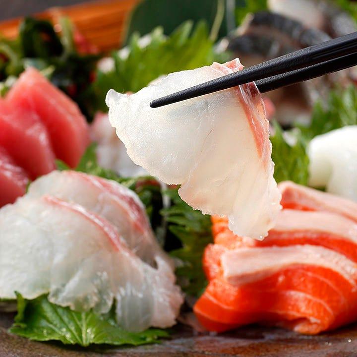豊洲直送!毎日変わる旬の新鮮魚介!