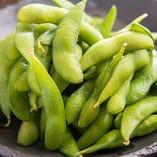 【あったか枝豆】当店では温めてご提供しております。
