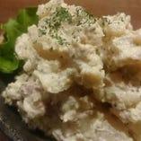 キタアカリのポテトサラダ。彦酉風の温かい和風ポテトサラダです。