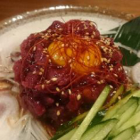 会津馬肉を使ったユッケです。