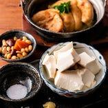 田内屋さんの冷やっこ、がんもどき。「ナカセンナリ」という大豆から作られてます。