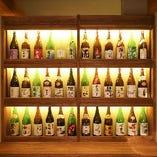 日本全国の日本酒をご用意。四季に合わせたラインナップ☆