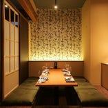 プライベート飲み会や会社宴会にご利用頂きやすい掘りごたつ個室