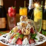 食後におすすめのデザートも♪誕生日にはサプライズもあります!
