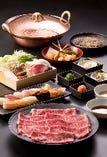 黒毛和牛しゃぶしゃぶ、寿司食べ放題
