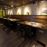 会社ご宴会におすすめ♪最大24名様で横並びにお座りいただけるテーブル席