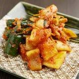 辛味と旨味が絶妙なバランスの自家製キムチ