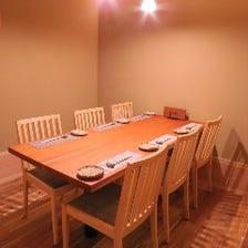 ご宴会も可能な個室座敷
