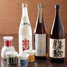 日本酒は常時50種以上グラス480円~