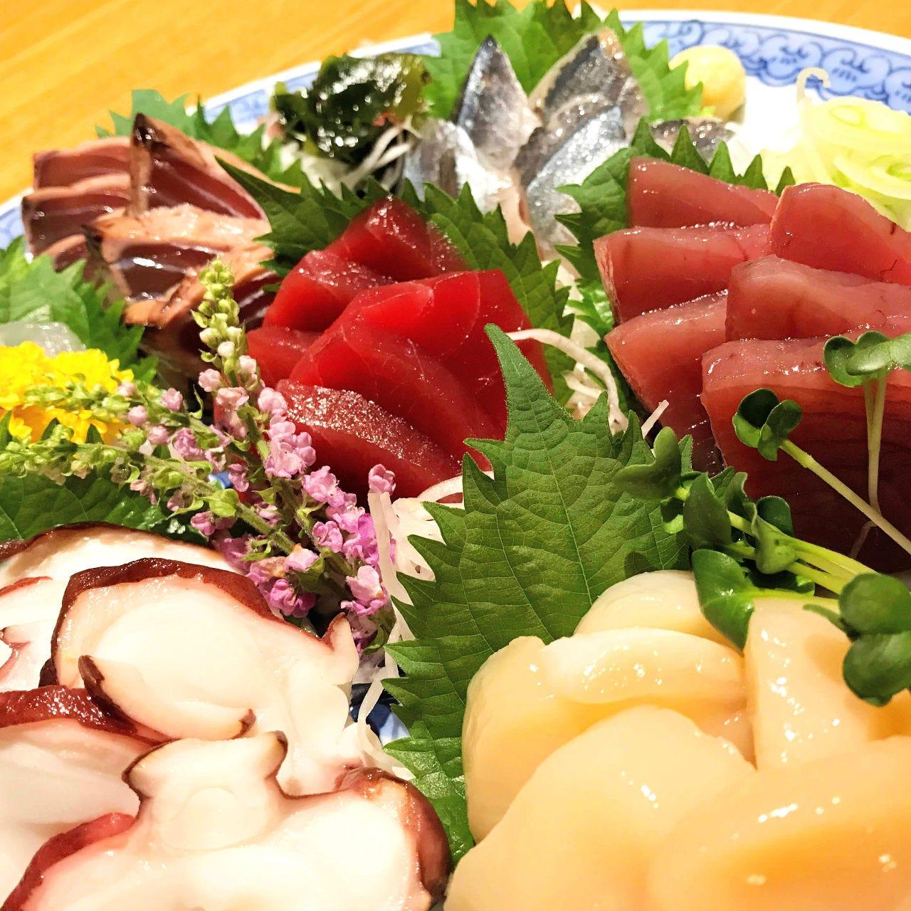 【オススメ】豊洲市場から仕入れる新鮮な魚介