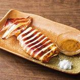 スルメイカの肝醤油焼き