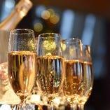 スパークリングワインやシャンパンのご用意もございます。