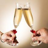 [女子会・記念日・貸切特典]乾杯用スパークリングワイン
