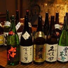 全国選りすぐりの日本酒は常時20種