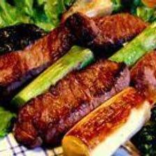 国産テンダーと野菜の串ステーキ