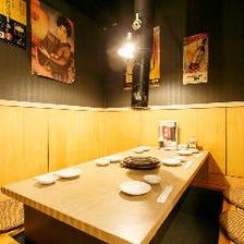☆ゆったりと食事を楽しめる個室☆