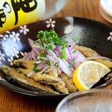 鹿児島の近海で獲れたきびなごを天ぷらでどうぞ♪